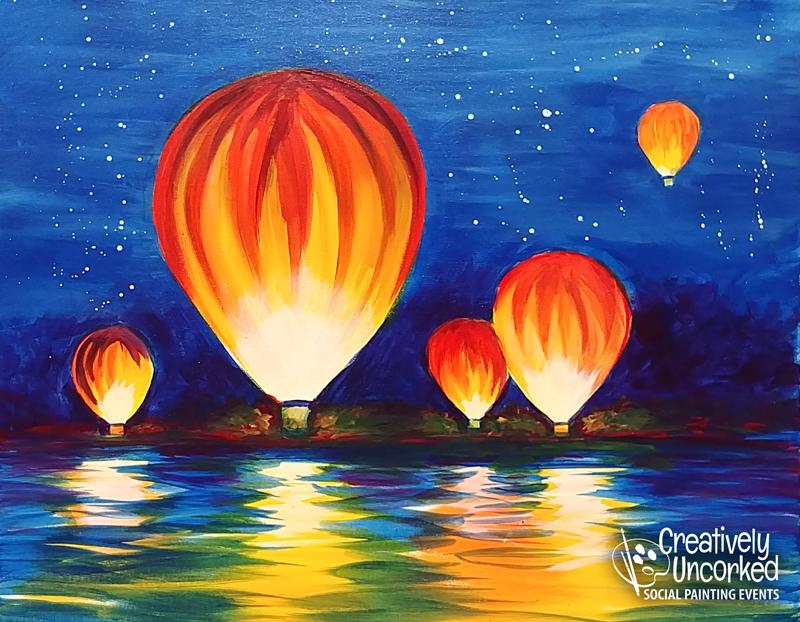 Hot Air Balloons Airing Up