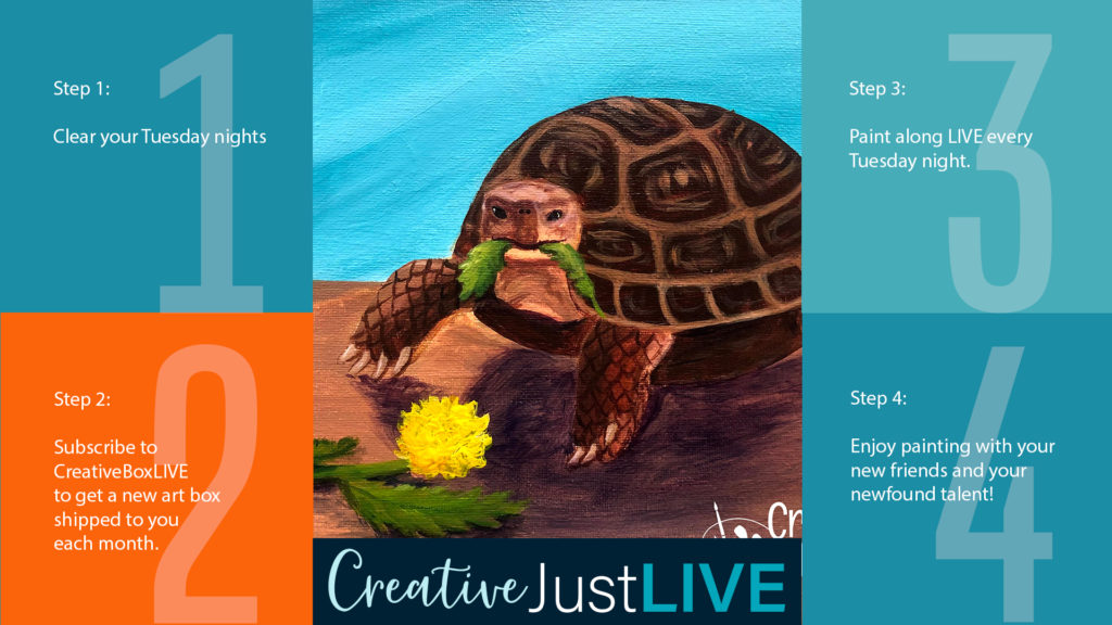 Hungry Tortoise from Creatively Uncorked https://creativelyuncorked.com/