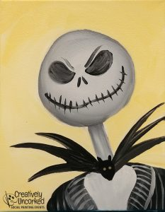 Nightmare Jack Skellington at Creatively Uncorked https://creativelyuncorked.com/