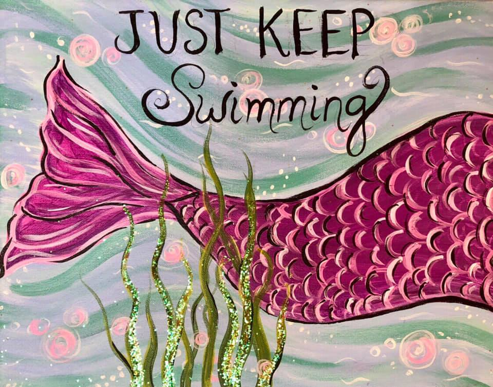 Just Keep Swimming at Creatively Uncorked https://creativelyuncorked.com/