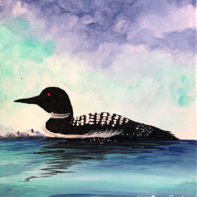 Lake Loon by Creatively Uncorked https://creativelyuncorked.com/