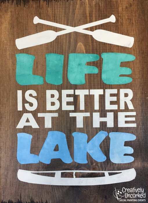 Life is Better at the Lake 11x16