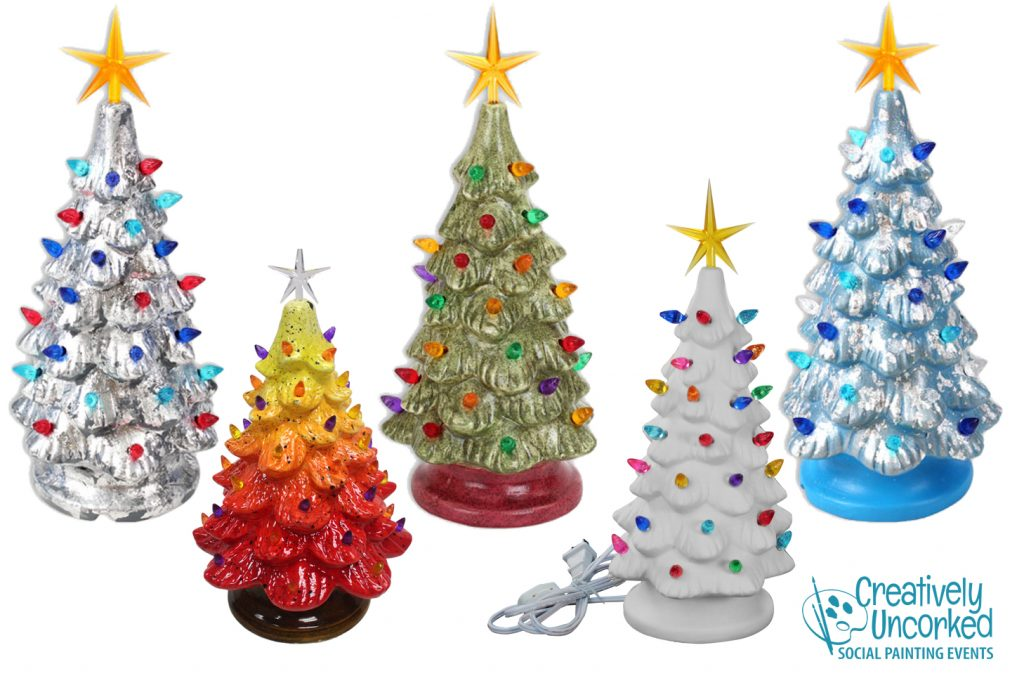 Lighted Ceramic Christmas Tree at Creatively Uncorked https://creativelyuncorked.com