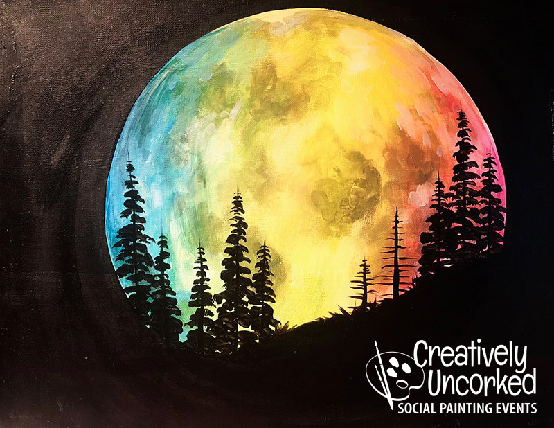 Lit Moon at Creatively Uncorked https://creativelyuncorked.com/