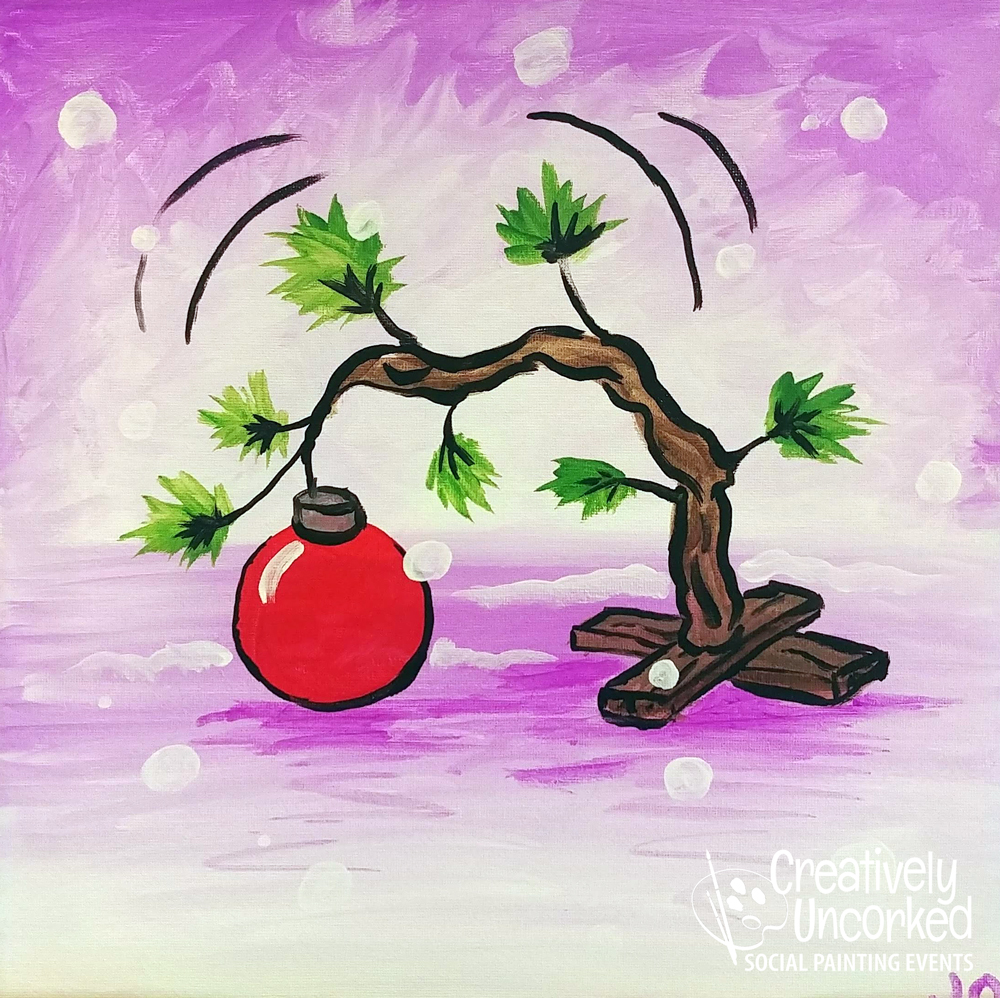 Little Sad Christmas Tree at Creatively Uncorked https://creativelyuncorked.com
