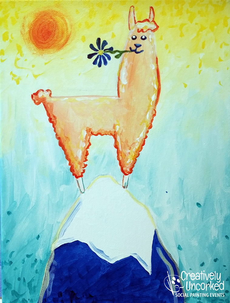Llama Mountain at Creatively Uncorked https://creativelyuncorked.com/