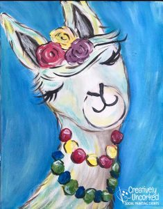 Lovely Llama at Creatively Uncorked https://creativelyuncorked.com/