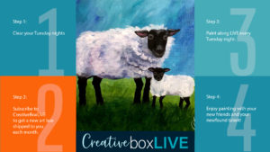 Mama Sheep CBL with CreativeBoxLIVE from Creatively Uncorked https://creativelyuncorked.com/