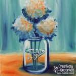 Mason Jar Flowers at Creatively Uncorked https://creativelyuncorked.com/