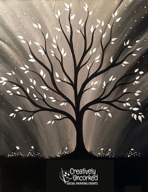 Midnight Tree @ Creatively Uncorked https://creativelyuncorked.com/