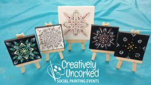 Mini Dot Mandalas at Creatively Uncorked https://creativelyuncorked.com/