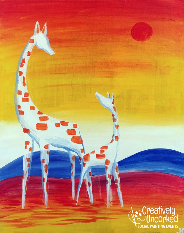 Mommy Giraffe at Creatively Uncorked https://creativelyuncorked.com/
