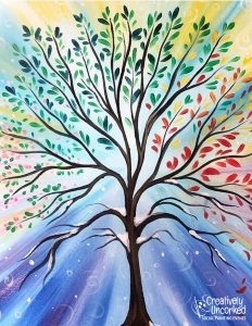 New Life Tree at Creatively Uncorked https://creativelyuncorked.com/