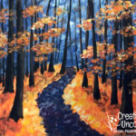 October Path at Creatively Uncorked https://creativelyuncorked.com/