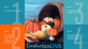 Oh My Gourd CBL with CreativeBoxLIVE from Creatively Uncorked https://creativelyuncorked.com/