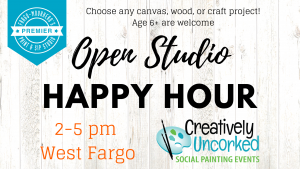 Open Studio Happy Hour 2019 at Creatively Uncorked https://creativelyuncorked.com/