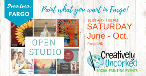 Open Studio at Creatively Uncorked Fargo https://creativelyuncorked.com/