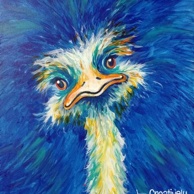Ostrich at Creatively Uncorked https://creativelyuncorked.com/