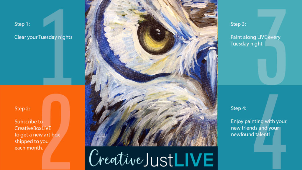 Owl Eye from Creatively Uncorked https://creativelyuncorked.com/
