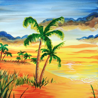 Palm Trees at Dusk from Creatively Uncorked https://creativelyuncorked.com/