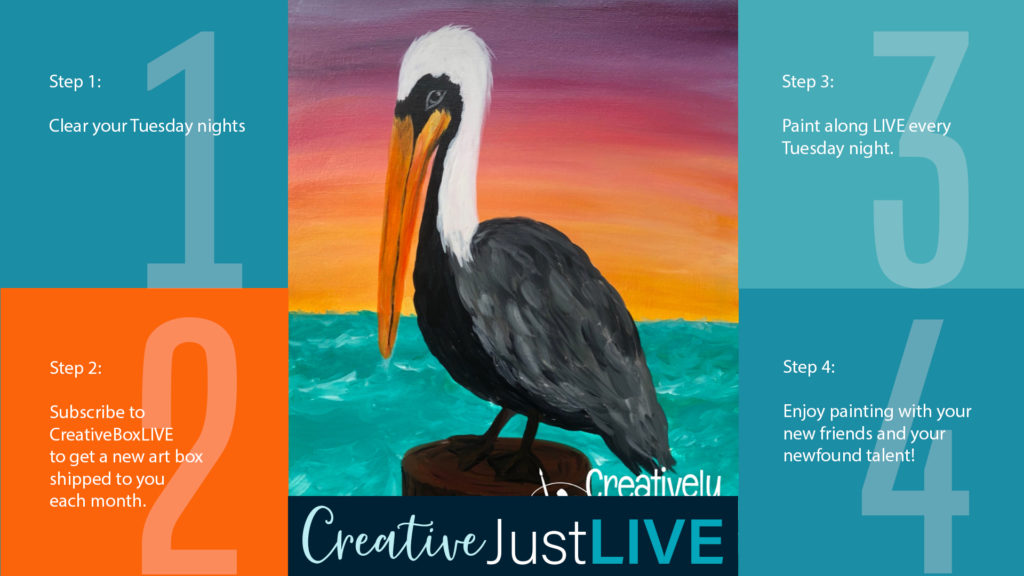 Pelican Sunset from Creatively Uncorked https://creativelyuncorked.com/