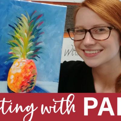 Splash of Pineapple Virtual Art Kit