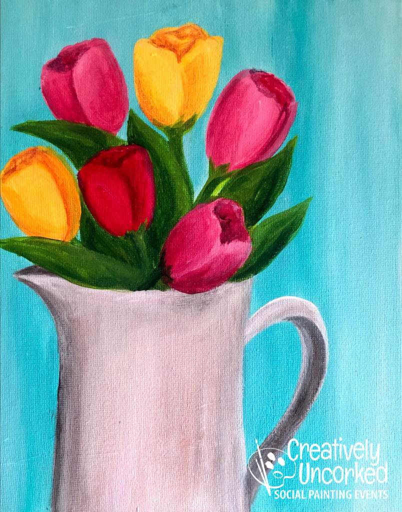 Pitcher of Flowers by Creatively Uncorked https://creativelyuncorked.com/