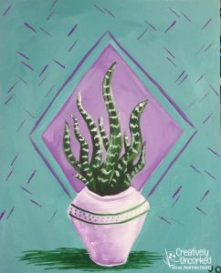 Potted Snake Plant at Creatively Uncorked https://creativelyuncorked.com/