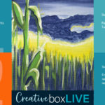 Purple Cornfield CBL a CreativeBoxLIVE painting by Creatively Uncorked