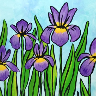 Purple Irises at Creatively Uncorked https://creativelyuncorked.com/
