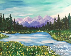 Purple Mountains at Creatively Uncorked https://creativelyuncorked.com/