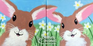 Rabbits at Creatively Uncorked https://creativelyuncorked.com/