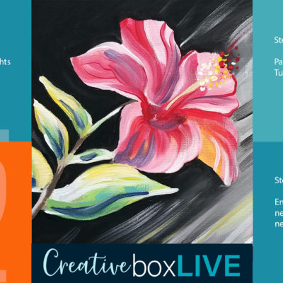 Red Hibiscus Creative Box Live by Creatively Uncorked