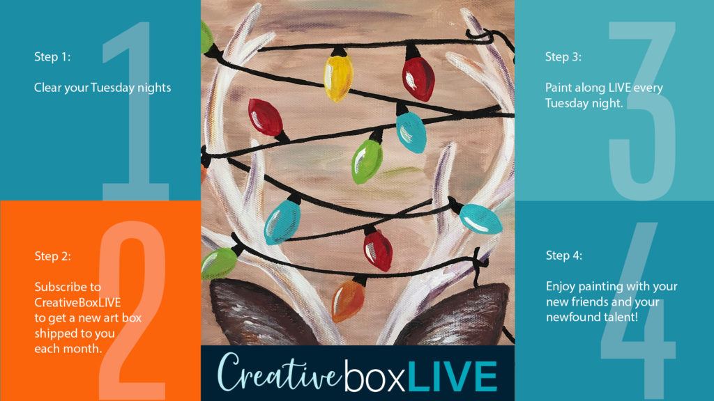 Reindeer Lights CBL with CreativeBoxLIVE from Creatively Uncorked https://creativelyuncorked.com/