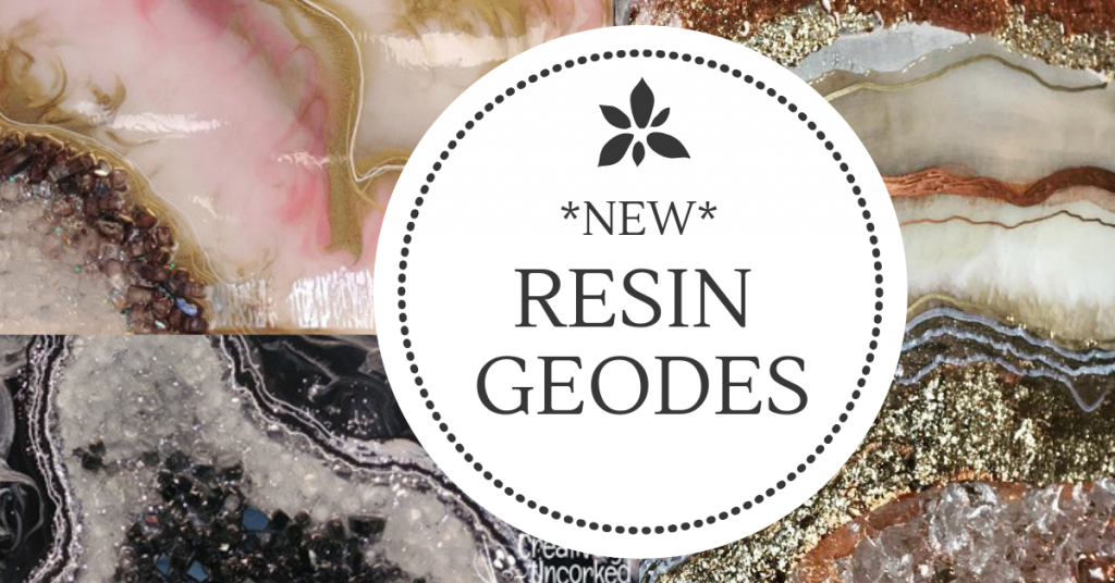 Resin Geodes at Creatively Uncorked https://creativelyuncorked.com/