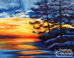Rocky Sunset at Creatively Uncorked https://creativelyuncorked.com/