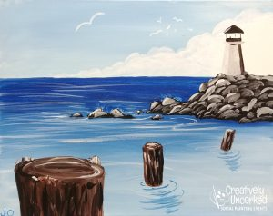 Rocky Lighthouse at Creatively Uncorked https://creativelyuncorked.com/