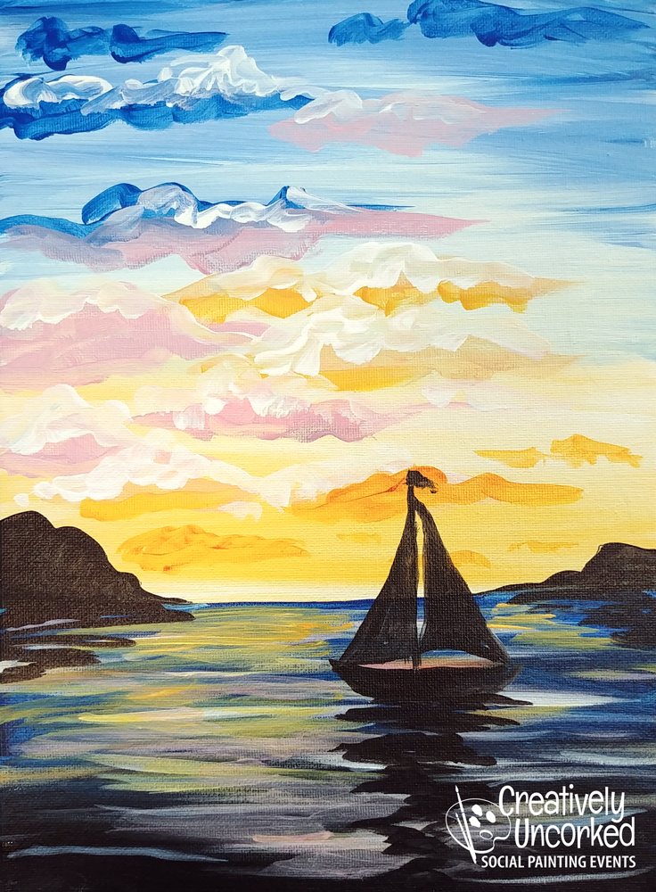 Sailing into the Sunset at Creatively Uncorked https://creativelyuncorked.com/