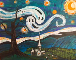 Scary Starry Night at Creatively Uncorked https://creativelyuncorked.com/