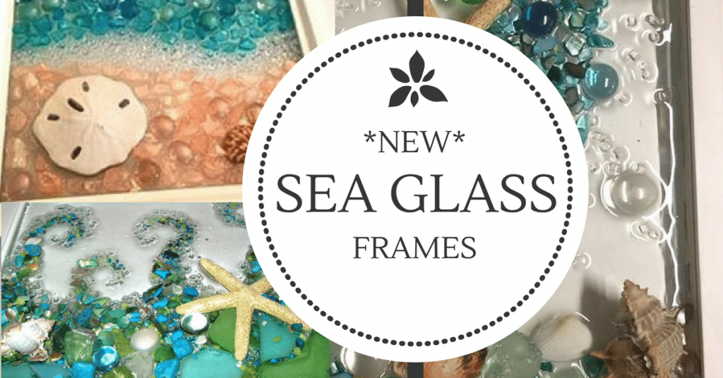 Sea Glass Frames | Creatively Uncorked | https://creativelyuncorked.com