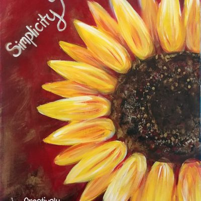 Simplicity Sunflower @ Creatively Uncorked https://creativelyuncorked.com/