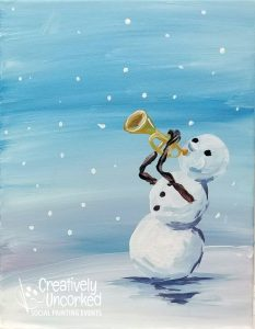 Snowman Jazz at Creatively Uncorked https://creativelyuncorked.com/