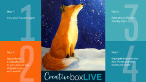 Snowy Fox CBL with CreativeBoxLIVE from Creatively Uncorked https://creativelyuncorked.com/