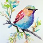 Song Bird in Watercolor at Creatively Uncorked https://creativelyuncorked.com/