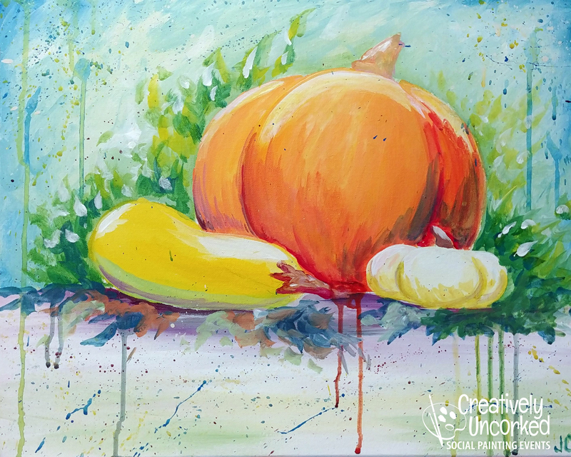 Splash of Fall at Creatively Uncorked https://creativelyuncorked.com