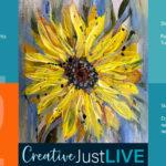 Splash of Sunflower FB from Creatively Uncorked https://creativelyuncorked.com/