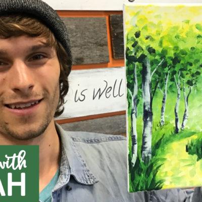 Spring Aspen Path Virtual Art Kit