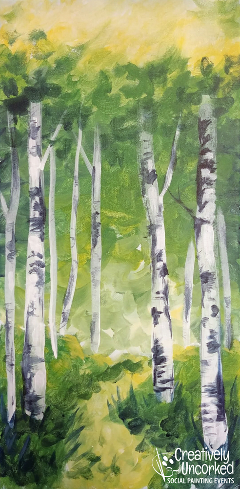 Spring Aspen Path at Creatively Uncorked https://creativelyuncorked.com