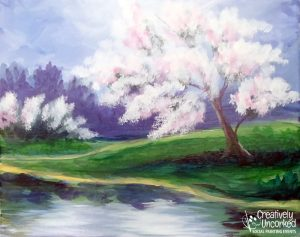 Spring Blossoms at Creatively Uncorked https://creativelyuncorked.com/