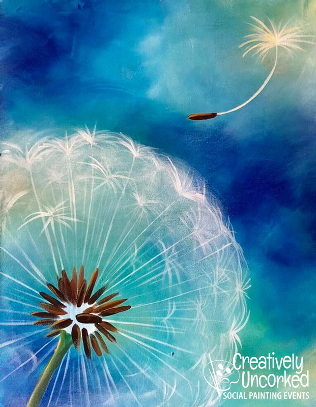 Spring Dandelion at Creatively Uncorked https://creativelyuncorked.com/